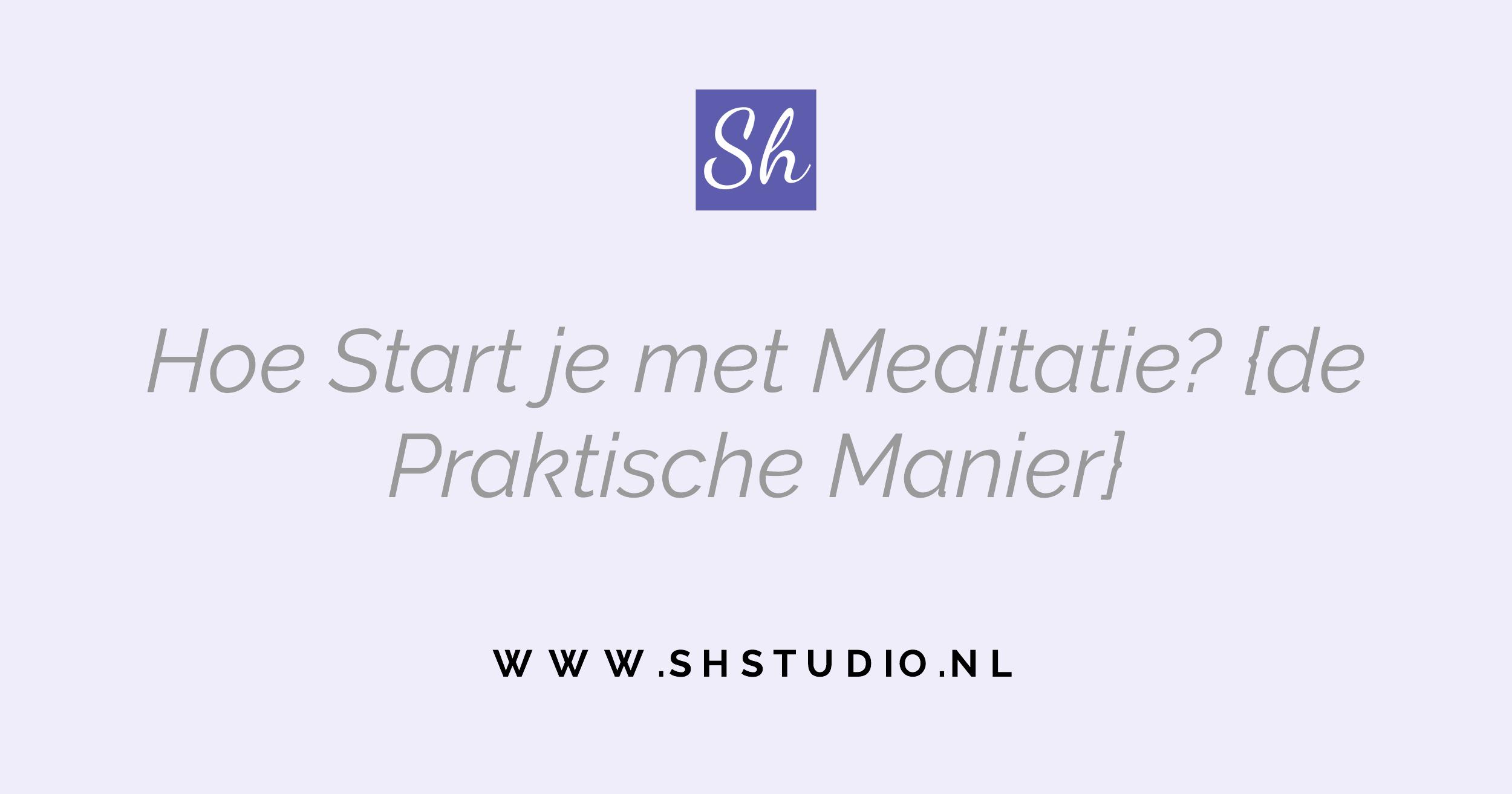 hoe start meditatie